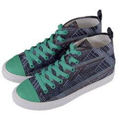 Ducting Construction Industrial Women s Mid Top Canvas Sneakers by Celenk