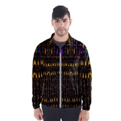 Hot As Candles And Fireworks In Warm Flames Wind Breaker (men) by pepitasart