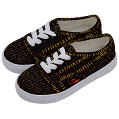 Hot As Candles And Fireworks In Warm Flames Kids  Classic Low Top Sneakers by pepitasart