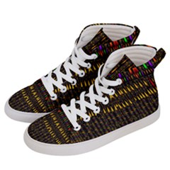Hot As Candles And Fireworks In Warm Flames Women s Hi-top Skate Sneakers by pepitasart