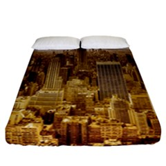 New York Empire State Building Fitted Sheet (california King Size)