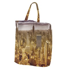 New York Empire State Building Giant Grocery Zipper Tote