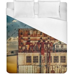 Ruin Abandoned Building Urban Duvet Cover (california King Size) by Celenk