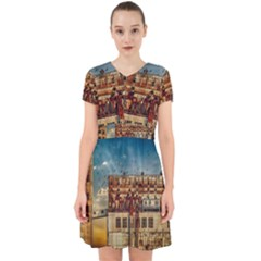 Ruin Abandoned Building Urban Adorable In Chiffon Dress