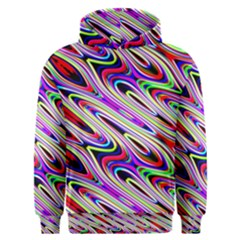 Multi Color Wave Abstract Pattern Men s Overhead Hoodie