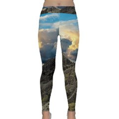 Landscape Clouds Scenic Scenery Classic Yoga Leggings by Celenk