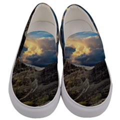Landscape Clouds Scenic Scenery Men s Canvas Slip Ons