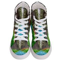 River Forest Landscape Nature Women s Hi Top Skate Sneakers