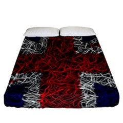 Union Jack Flag Uk Patriotic Fitted Sheet (california King Size)