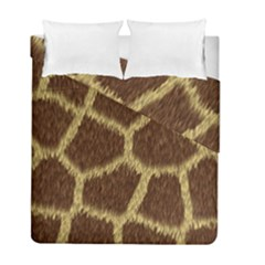 Background Texture Giraffe Duvet Cover Double Side (full/ Double Size) by Celenk