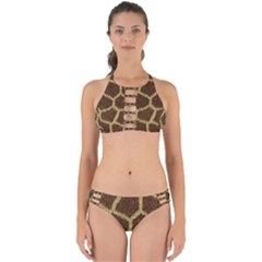 Background Texture Giraffe Perfectly Cut Out Bikini Set