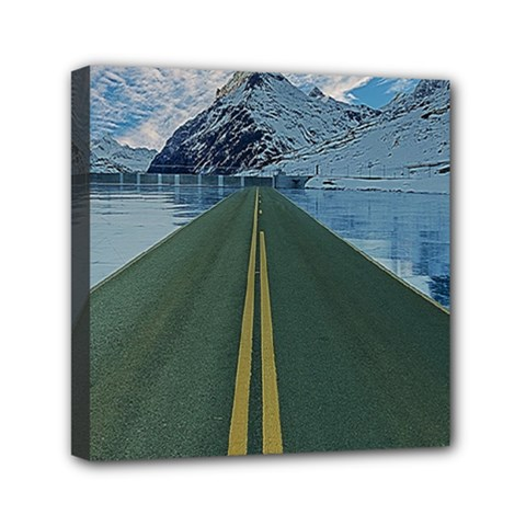 Road Ice Landscape Canvas Travel Bag
