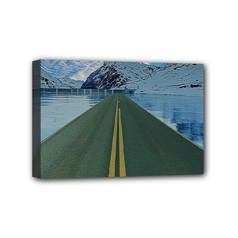 Road Ice Landscape Mini Canvas 6  X 4
