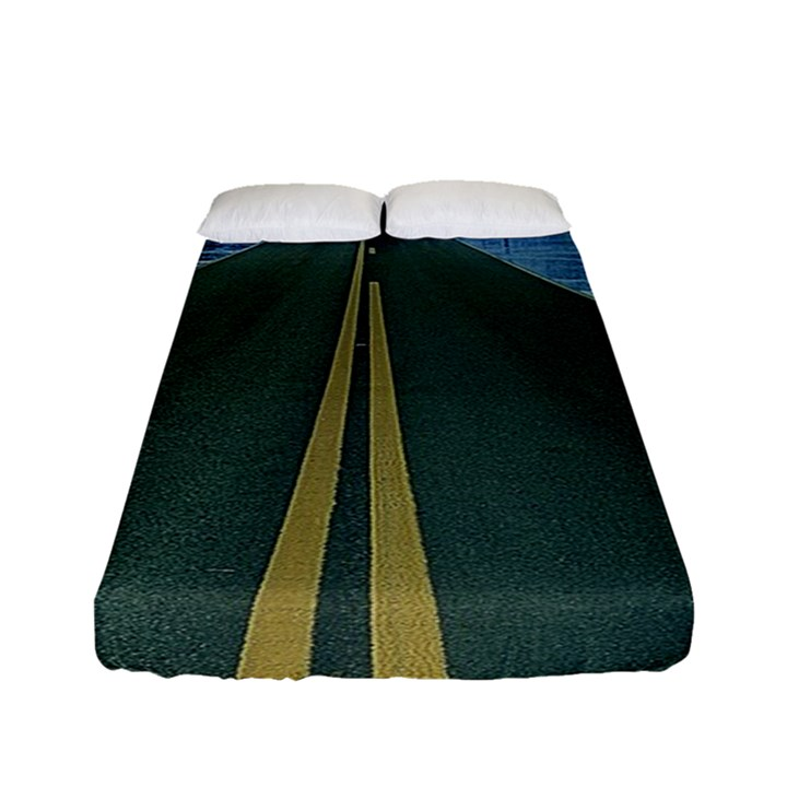 Road Ice Landscape Fitted Sheet (Full/ Double Size)