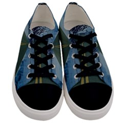 Road Ice Landscape Men s Low Top Canvas Sneakers