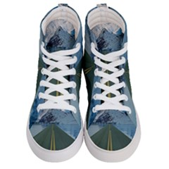 Road Ice Landscape Men s Hi Top Skate Sneakers