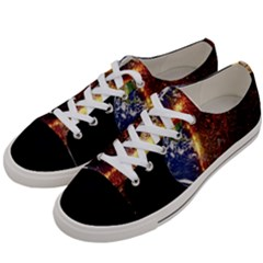 Climate Change Global Warming Women s Low Top Canvas Sneakers by Celenk