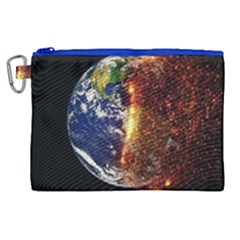 Climate Change Global Warming Canvas Cosmetic Bag (xl)