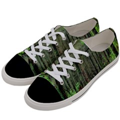 Forest Woods Nature Landscape Tree Women s Low Top Canvas Sneakers by Celenk