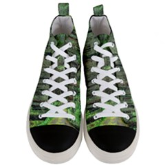 Forest Woods Nature Landscape Tree Men s Mid Top Canvas Sneakers