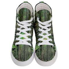 Forest Woods Nature Landscape Tree Women s Hi Top Skate Sneakers