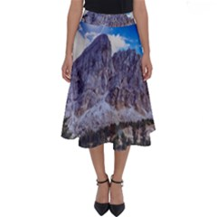 Rock Sky Nature Landscape Stone Perfect Length Midi Skirt