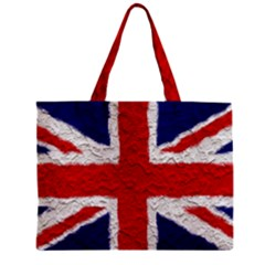 Union Jack Flag National Country Zipper Mini Tote Bag by Celenk