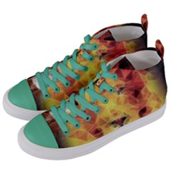 Fractal Lion Women s Mid Top Canvas Sneakers by Celenk