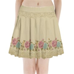 Shabby Country Pleated Mini Skirt by 8fugoso