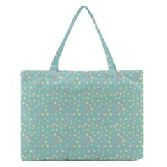 Light Teal Hearts Zipper Medium Tote Bag by snowwhitegirl