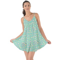 Light Teal Hearts Love The Sun Cover Up