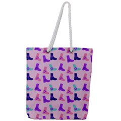 Candy Boots Full Print Rope Handle Tote (large) by snowwhitegirl