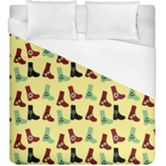 Yellow Boots Duvet Cover (king Size) by snowwhitegirl