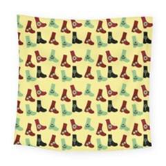 Yellow Boots Square Tapestry (large) by snowwhitegirl