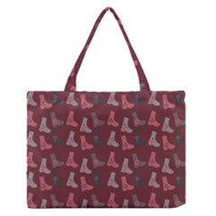 Rosegrey Boots Zipper Medium Tote Bag by snowwhitegirl