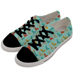 Blue Orange Boots Men s Low Top Canvas Sneakers by snowwhitegirl