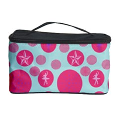 Blue Retro Dots Cosmetic Storage Case