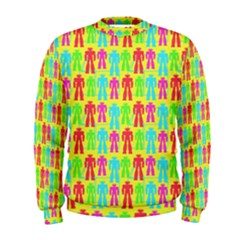 Colorful Robots Men s Sweatshirt