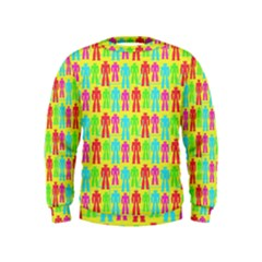 Colorful Robots Kids  Sweatshirt