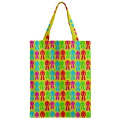 Colorful Robots Zipper Classic Tote Bag by snowwhitegirl