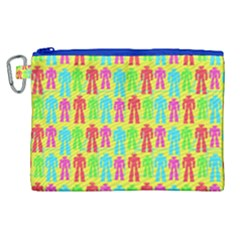Colorful Robots Canvas Cosmetic Bag (xl) by snowwhitegirl