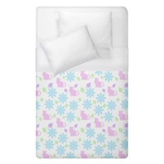 Cats And Flowers Duvet Cover (single Size) by snowwhitegirl