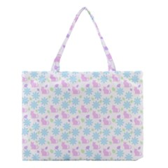 Cats And Flowers Medium Tote Bag
