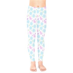 Cats And Flowers Kids  Legging by snowwhitegirl