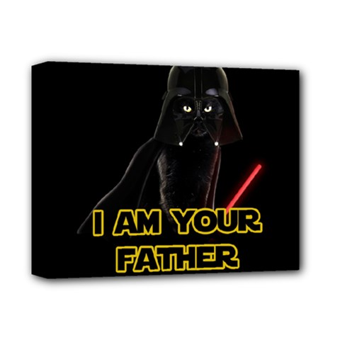 Darth Vader Cat Deluxe Canvas 14  X 11