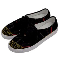 Darth Vader Cat Men s Classic Low Top Sneakers by Valentinaart