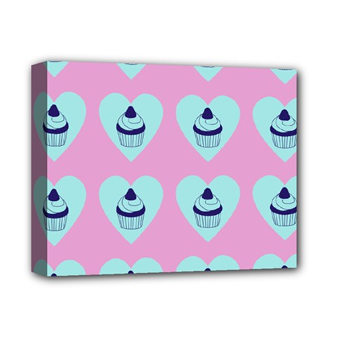 Cupcakes In Pink Deluxe Canvas 14  X 11  by snowwhitegirl