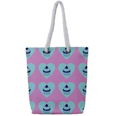 Cupcakes In Pink Full Print Rope Handle Tote (small) by snowwhitegirl