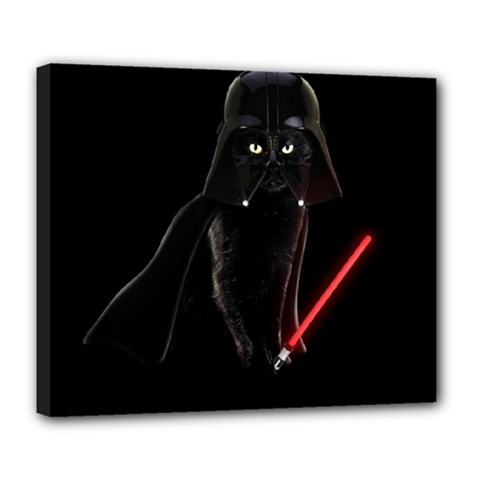Darth Vader Cat Deluxe Canvas 24  X 20