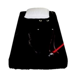 Darth Vader Cat Fitted Sheet (single Size) by Valentinaart